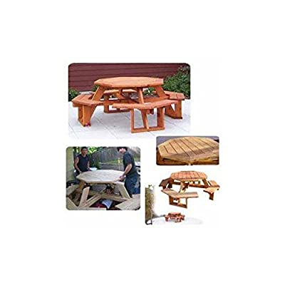 Woodworking Project Paper Plan to Build Octagon Picnic Table from Woodcraft Supply