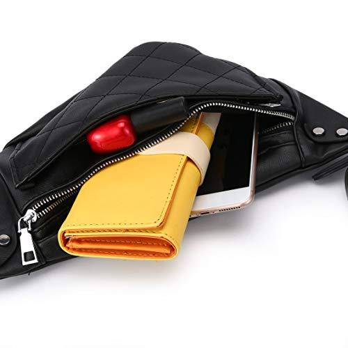 Pack Color Cintura Pure Resistente De Bolso Pecho Cuero Lattice Hombro Correa Con Wear Ajustable Cremallera Line Crossbody Simple UxqYOwU