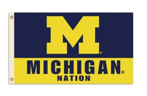 Michigan Wolverines Ncaa Basketball - NCAA Michigan Wolverines 3-by-5 Foot Nation Flag With Grommets