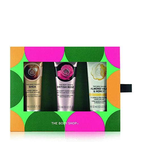 The Body Shop Caring Hand Creams Trio Gift Set, 3pc Set of Paraben-Free Hand ()