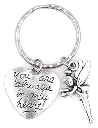 - You are Always in My Heart Pixie Fairy Keychain 113X