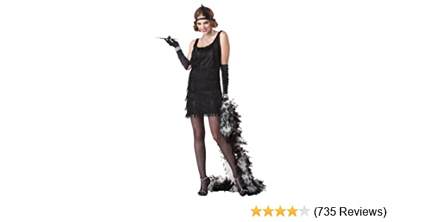 02fc9739aed Amazon.com  Fashion Flapper (Red) Adult Costume  Clothing