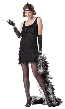 California Costumes Women's Fashion Flapper Costume,Black,Small