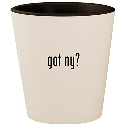 got ny? - White Outer & Black Inner Ceramic 1.5oz Shot Glass