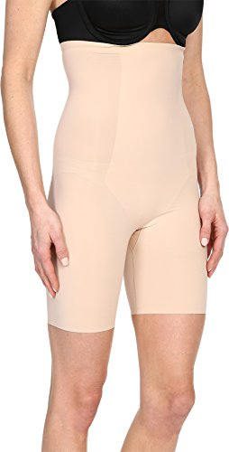 SPANX Women's Thinstincts High-Waisted Mid-Thigh Short, Soft Nude, XL