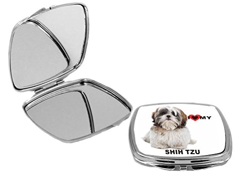 Rikki Knight I Love My White Brown Shih Tzu Dog Design Multifunctional Messenger Bag - School Bag - Laptop Bag - with Padded Insert for School or Work - Includes Matching Compact Mirror by Rikki Knight (Image #2)