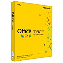 Office Mac Home & Student 2011 English (1PC/1User) (PC Key Card)