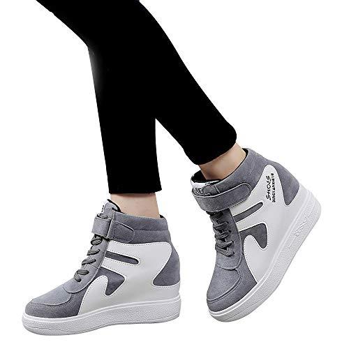 Yesmile Donna Il Da Moda Singole Invernali Ankle Con Scarpe Grigio Donna Scarpe Stivali Corrispondenti Casual Impermeabile Boots Colore Piatte Aumentato XwTd7Xx