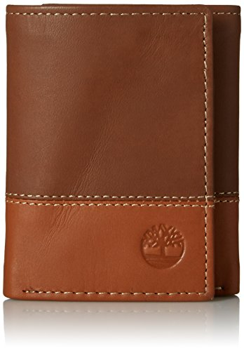 Timberland Mens Leather Trifold Wallet With ID Window (Wallets For Men By Amazon)