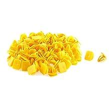 uxcell® 100 Pcs Yellow Plastic Door Trim Panel Hood Rivet