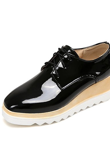 Bout Gris Fermé Noir amp; us6 Chaussures Travail Femme Bureau Black 2016 Arrondi Décontracté Cn36 Blanc Compensé Argent Talon Uk4 Njx Habillé Eu36 wPSq6ac