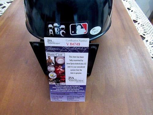 Whitey Ford Hof 74 1961 Wsc Yankees Signed Auto Abc Pro Yankee Helmet Swc JSA Certified Autographed Hats