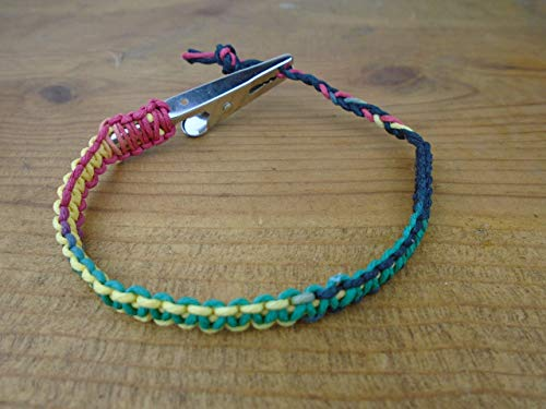 BEACH HEMP JEWELRY Rasta Hemp Bracelet Anklet Handmade In USA Adjustable