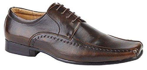 Goor para hombre zapatos de cordones–Funda Smart Dk.Brown PU
