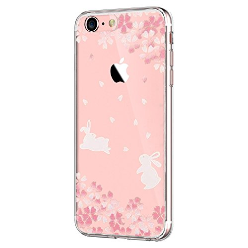 iPhone 7 4.7Inch Case, Iessvi Fashion Flower Pattern TPU Silicone Case Shell for iPhone7 (8) ()