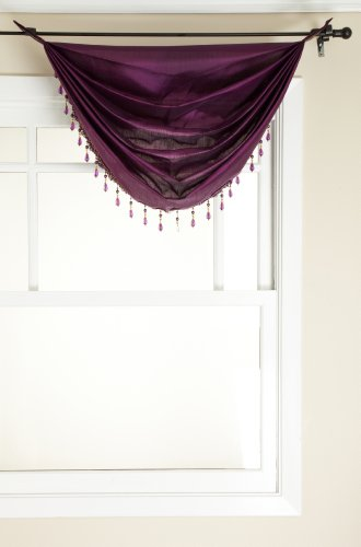 Stylemaster Tribeca Faux Silk Grommet Waterfall Valance w...