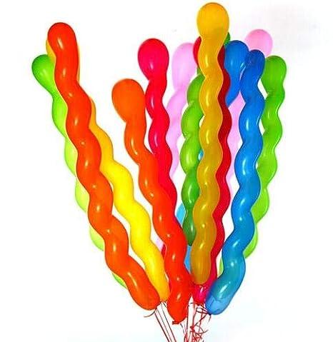 Oyfel Globos Long Espiral Gigante para Fiestas cumpleaños ...