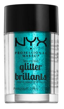 NYX glitter brillants for face and body (#COLOR - GLI03 TEAL/ SARCELLE) (Teal Makeup)
