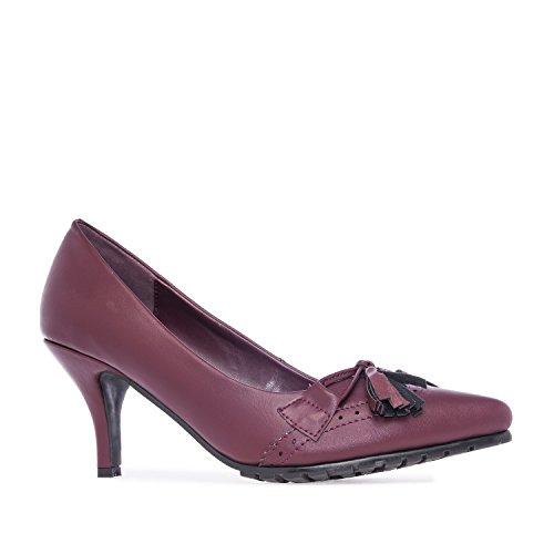 Andres Machado.AM5106.Salons en Soft style Oxford. Petites et Grandes Pointures.32/35-42/45. Pour Femmes Vin