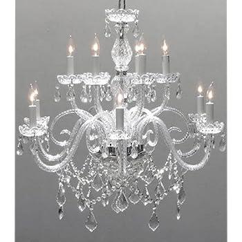 Swarovski crystal trimmed chandelier chandelier chandeliers swarovski crystal trimmed chandelier chandelier lighting crystal chandeliers h27 x mozeypictures Choice Image