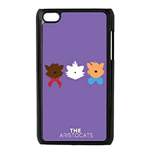 Aristocats Protective Case For iPod Touch 4 Cell Phone Case Black