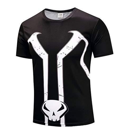 PKAWAY Mens Cool Slim Fit Quick Dry Spawn Workout T Shirt 3XL