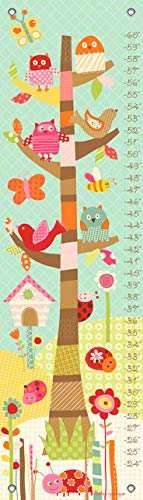 Oopsy Daisy Growth Charts Pretty Tree by Lesley Grainger, 12 by 42-Inch ()