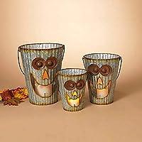 GIL 2422600 S/3 Wavy Metal Halloween Pumpk Christmas, 12InL x 12InW x 15InH, Multicolor