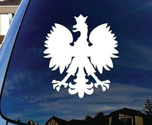 "Polska Polish Poland Eagle Car Window Vinyl Decal Sticker 6"" Tall"