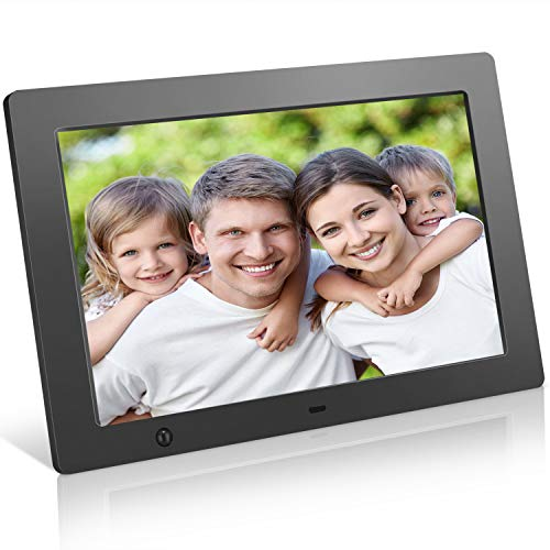 Digital Picture Frame 10.1 inch Electronic Photo Frame with Motion Sensor and Automatic Rotation/High Resolution 1280x800IPS LCD/1080P 720P Video Player/Stereo/MP3/Calendar/Time/Remote Control (All Time Best Players)