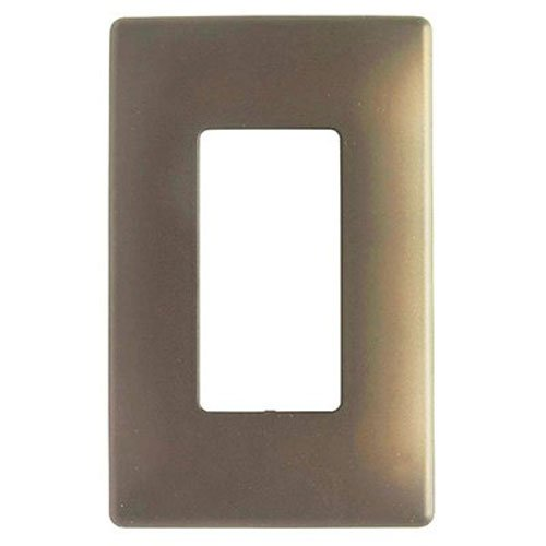 Pass & Seymour SWP26DBBPCC10 One Gang Decorative Wall Plate, Bronze