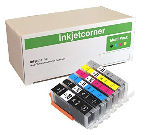 Compatible Replacement Magenta Inkjet - Inkjetcorner Compatible Ink Cartridges Replacement for PGI-270XL CLI-271XL for use with TS9020 MG7720 TS8020 (1 Big Black 1 Small Black 1 Cyan 1 Magenta 1 Yellow 1 Gray, 6-Pack)