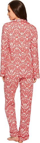 BedHead Women's Long Sleeve Classic Stretch Knit Pajama Set Rouge French Lace Medium by BedHead Pajamas (Image #2)