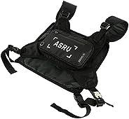 Mens Radio Chest Rig Women Hip Hop Waist Front Bag Tactical Pack Waterproof Bag Quick-Drying Vest Waist Pocket