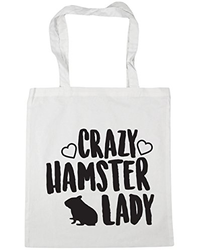 Shopping hamster Tote Bag Beach HippoWarehouse x38cm White litres 42cm Gym lady 10 Crazy CIqfqxwt5
