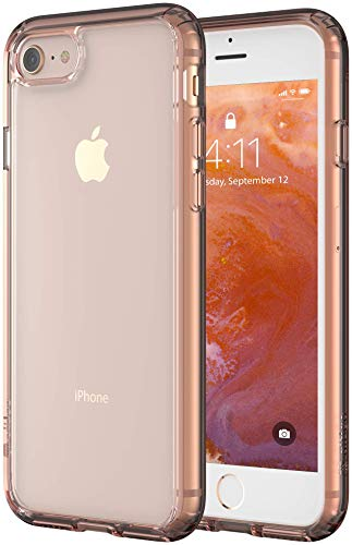 Altigo iPhone 8 Case (Compatible with iPhone 7) - Clear Case with Pink Crystal Bumper