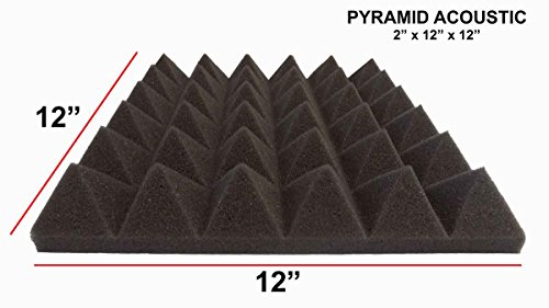 mybecca-14-pack-premium-pyramid-2-inch-acoustic-foam-studio-soundproofing-sound-isolation-wall-tiles