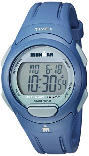- Timex Men's TW5M16500 Ironman Essential 10 Navy/Gray Resin Strap Watch