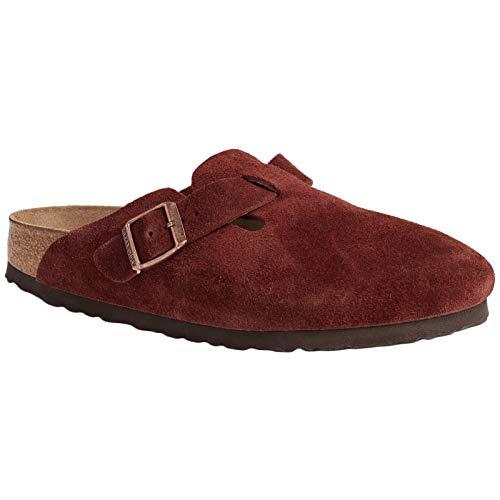 Birkenstock Boston Soft-Footbed Womens Clogs Red 8 B(M) US Women / 6 D(M) US Men