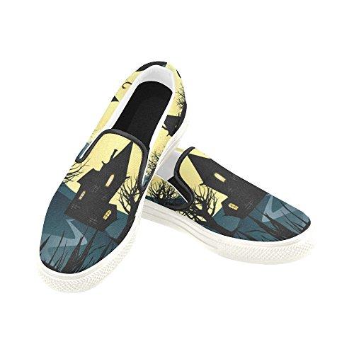 D-Story Custom Happy Halloween Pumpkin Womens Slip-On Canvas Shoes Fashion Sneaker Multicoloured4 y0QQu