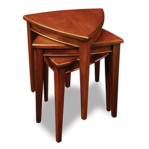 Leick Shield Stacking Corner Table Set, Nutmeg