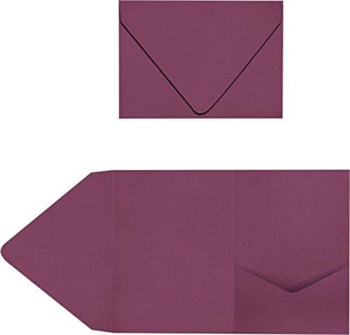   Perfect for Invitation Suites Announcements Weddings Elegant Events EX10-LEBAGMPF-50 LUXPaper 50 Qty - Gold Metallic 5 x 7 Sending Cards A7 Pocket Invitations