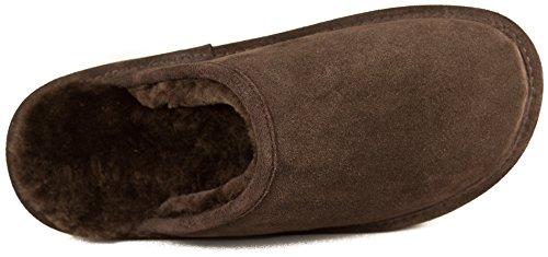 Dr. Pelle Di Pecora - Pantofole Di Pelle Di Pecora - 3 Colori Disponibili - Uomo Marrone