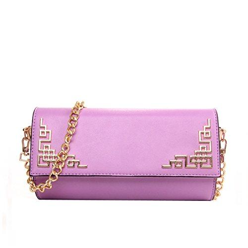 Mujer Estilo Chino Bolso Moda Elegante Bolsa De Hombro Purple