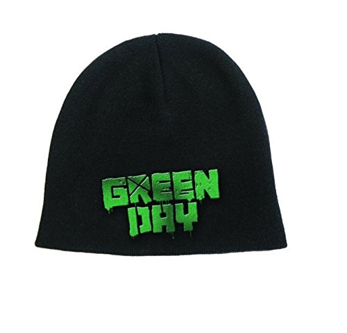 (Green Day Beanie Hat Cap Band Logo American Idiot Official Black Size One Size)