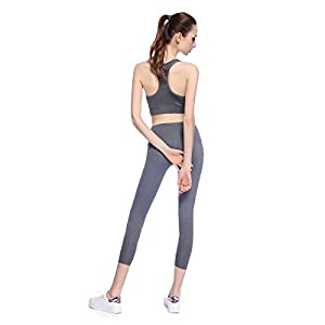 Bonjanvye Running Bra And Activewear Pants Yoga Clothing Sets for Women Sport Clothing