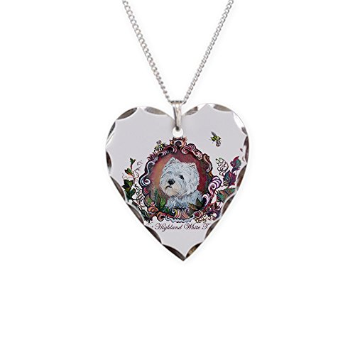 (CafePress - West Highland White Terrier - Charm Necklace with Heart Pendant)