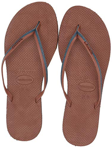 Havaianas Women's You Jeans Sandal, Navy Blue/Rust, 37-38 M Bra