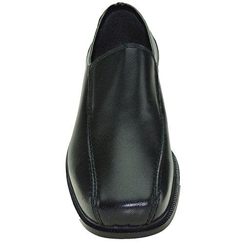 para Modelo y Piso Hombre 2 de Piel Mocasín de Negro Goma 1216 YqagSS