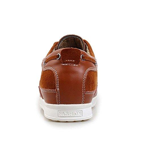 ZXCV Zapatos al aire libre Zapatos de los hombres sigilo dentro del aumento de los zapatos de negocios zapatos de la moda transpirable zapatos zapatos de mano casual Marrón